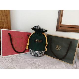 イルビゾンテ(IL BISONTE)の美品 IL BISONTEの紙バッグ&POLO CLUBの巾着セット(ポーチ)