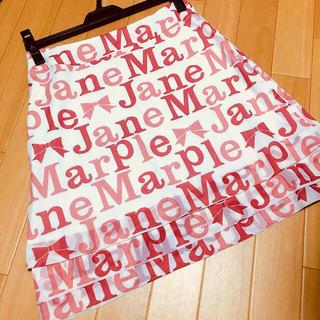 ジェーンマープル(JaneMarple)のJane Marple ジェーンマープル リボン ロゴ スカート(ひざ丈スカート)