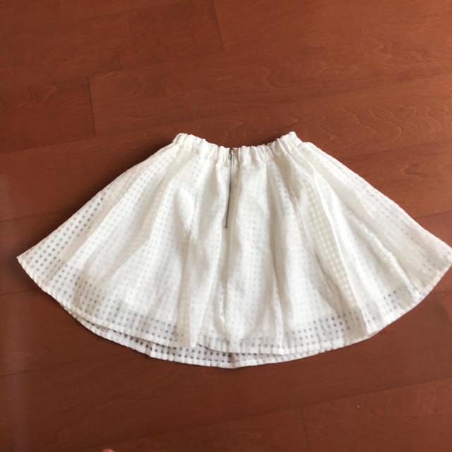 ByeBye(バイバイ)の白 ミニスカート Mサイズ  女の子   150cm 夏服 キッズ/ベビー/マタニティのキッズ服 女の子用(90cm~)(スカート)の商品写真