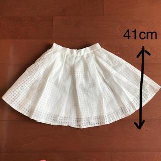 バイバイ(ByeBye)の(値下げ交渉可能!!)白 ミニスカート Mサイズ  女の子   150cm 夏服(スカート)