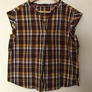 ジーユー(GU)のマドラスチェック ブラウス(シャツ/ブラウス(半袖/袖なし))