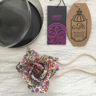 LIBERTY  ブローチ  ピンク系 花柄(ブローチ/コサージュ)