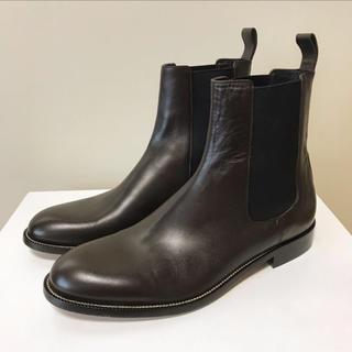 グッチ(Gucci)の☆未使用 グッチ プレーントゥ サイドゴア ブーツ ダークブラウン イタリア製(ブーツ)