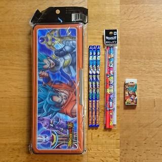 ドラゴンボール(ドラゴンボール)の【新品】ドラゴンボール超  3D筆箱 鉛筆 2B 赤鉛筆 消しゴム(ペンケース/筆箱)