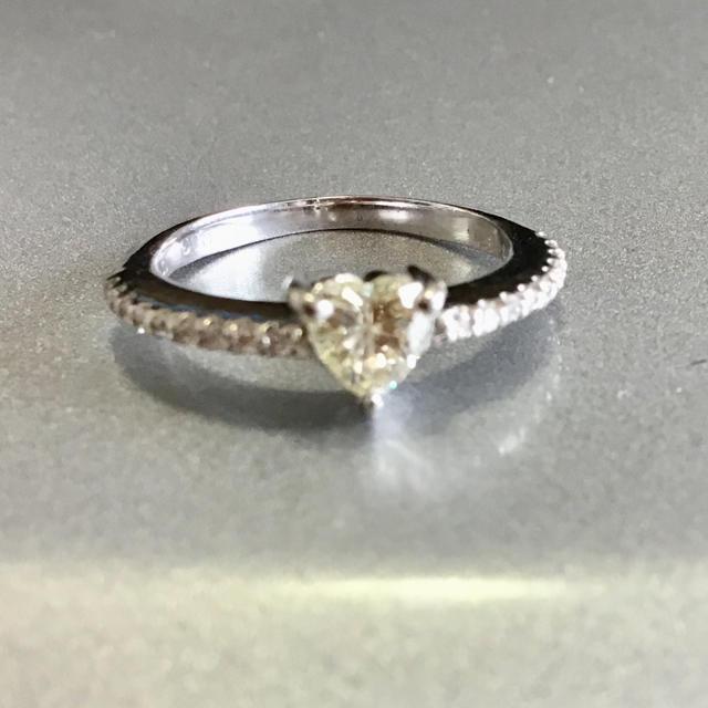 ハートシェイプ ダイヤモンド ピンキーリング レディースのアクセサリー(リング(指輪))の商品写真