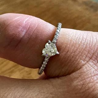 ハートシェイプ ダイヤモンド ピンキーリング(リング(指輪))