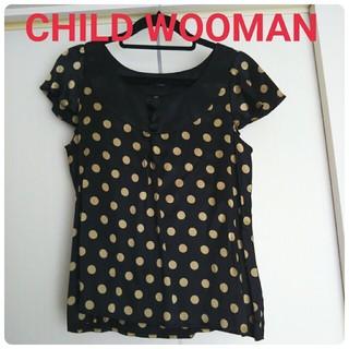 チャイルドウーマン(CHILD WOMAN)のCHILD WOMAN ドットトップス(カットソー(半袖/袖なし))