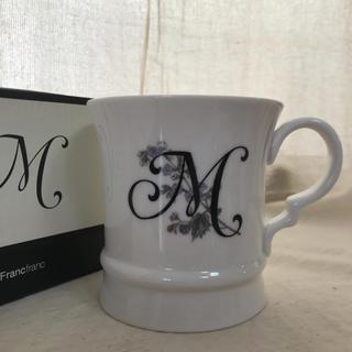 フランフラン(Francfranc)のFrancfranc  マグカップ(イニシャルM)(マグカップ)