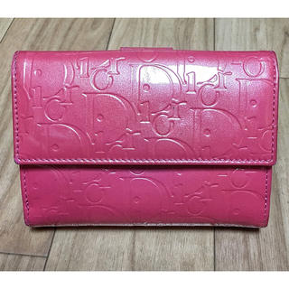 ディオール(Dior)の最終お値下げ Dior 財布 エナメル 二つ折りジャンク(財布)