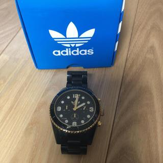 アディダス(adidas)のアディダスオリジナルス 腕時計 金色 黒(腕時計(アナログ))