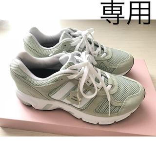 アディダス(adidas)の専用 adidas スニーカー ライトグリーン 本革 22.5 cm(s)(スニーカー)