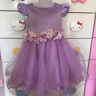 マザウェイズ(motherways)のドレス♡パープル♡100(ドレス/フォーマル)