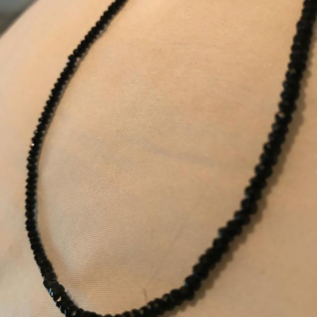PAPILLONNER(パピヨネ)の天然石 ブラックスピネル パピヨネ レディースのアクセサリー(ネックレス)の商品写真