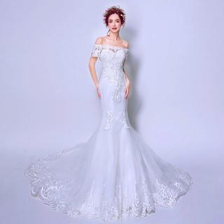 232452c4bfb3a 素敵なウエディングドレス 編み上げ 結婚式 披露宴 二次会 お色直し 演奏会 発(ウェディング