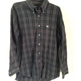 バーバリー(BURBERRY)のバーバリー ブラウンチェックメンズ 長シャツ(Tシャツ/カットソー(七分/長袖))