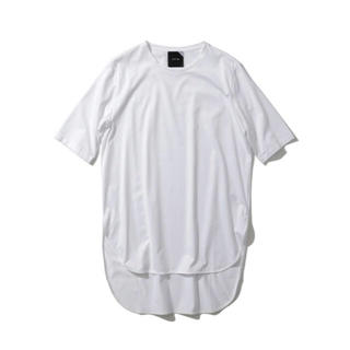 デミルクスビームス(Demi-Luxe BEAMS)のラスト1点です! 大人気! ATON ラウンドヘム Tシャツ ホワイト エイトン(Tシャツ(半袖/袖なし))