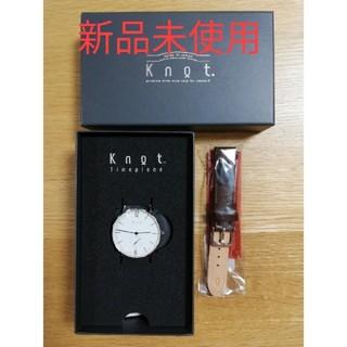 Knot/not - 新品未使用 knot 腕時計・レザーベルト