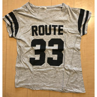 シンプリシテェ(Simplicite)のROUTE33 ロゴカットソー(Tシャツ(半袖/袖なし))