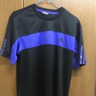 アディダス(adidas)のadidas Tシャツ Lサイズ 黒×紫(Tシャツ/カットソー(半袖/袖なし))
