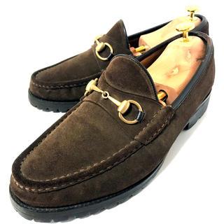 グッチ(Gucci)の【GUCCI】★超美品 グッチ ホースビット 28.0cm スエード 革靴(ドレス/ビジネス)