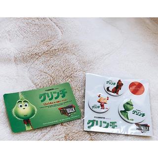 ユニバーサルエンターテインメント(UNIVERSAL ENTERTAINMENT)のグリンチのバッチとメッセージカード USJ(カード/レター/ラッピング)