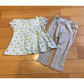 ブリーズ(BREEZE)のBREEZE購入★女の子サイズ90パジャマ★さくらんぼ柄チュニックタイプ(パジャマ)