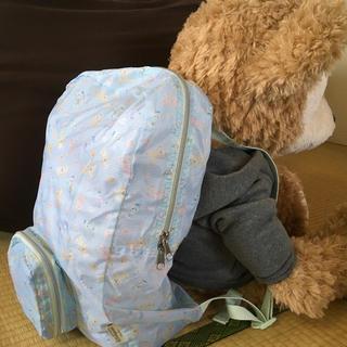 ダッフィー(ダッフィー)の母の日のプレゼントに!ダッフィーたちの折りたたみリュック@香港ディズニーランド(リュック/バックパック)