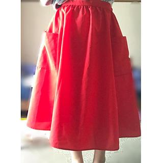 ピーチジョン(PEACH JOHN)の赤ロングスカート(ロングスカート)