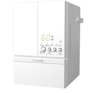ミツビシ(三菱)のスチームファン蒸発式加湿器 ピュアホワイト SHE60RD-W(加湿器/除湿機)