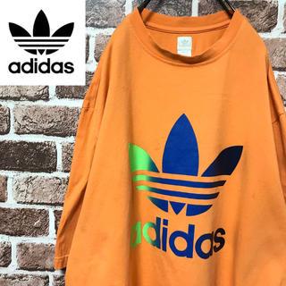 アディダス(adidas)の【激レア】アディダスオリジナルス 人気のオレンジビッグトレフォイルロゴTシャツ(Tシャツ/カットソー(半袖/袖なし))