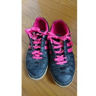 アディダス(adidas)のadidas 黒 ピンク 26.5cm (スニーカー)