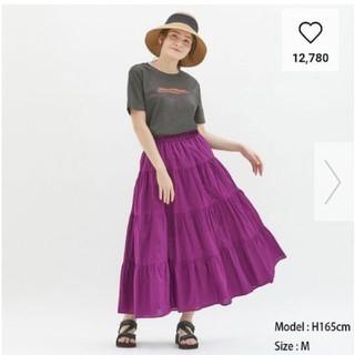ジーユー(GU)の新品GU ティアードフレアロングスカート(ロングスカート)