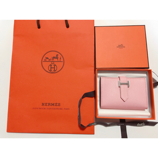 エルメス(Hermes)のHERMES エルメス カードケース ローズサクラ(財布)