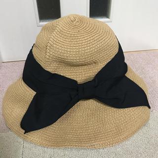 ジーユー(GU)のジーユー GU 紫外線対策 ストローハット 帽子 (麦わら帽子/ストローハット)