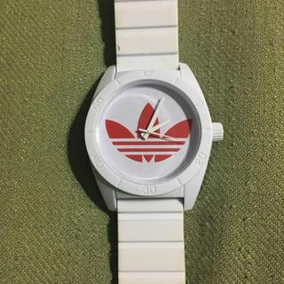 アディダス(adidas)のアディダス adidas 腕時計 赤 白(腕時計(アナログ))
