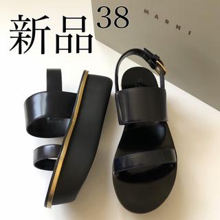 マルニ(Marni)の38新品 MARNI マルニ ゴールド ライン プラットホーム サンダル(サンダル)