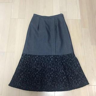 ルシェルブルー(LE CIEL BLEU)のパリンカ デニムレーススカート(ひざ丈スカート)