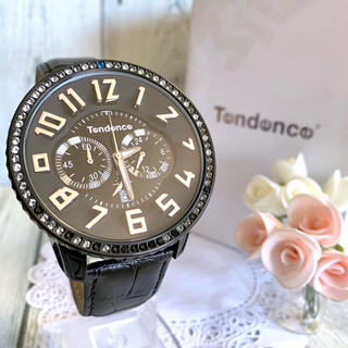 Tendence - 【美品】Tendence テンデンス ガリバーDX クロノグラフ 腕時計