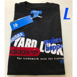 アディダス(adidas)の【メンズL】黒  グラフィックTシャツ(Tシャツ/カットソー(半袖/袖なし))