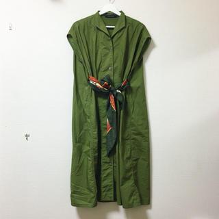 ドレステリア(DRESSTERIOR)のSOFIE D'HOORE❣️定価6万 ウエストリボン デザインシャツワンピース(ロングワンピース/マキシワンピース)