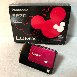 パナソニック(Panasonic)のパナソニック デジタルカメラ ルミックス ディズニーモデル DMC-FP7D-K(コンパクトデジタルカメラ)