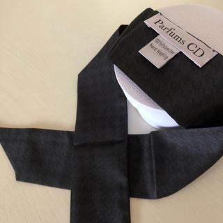 ディオール(Dior)のDior スカーフ 千鳥柄 紺&黒 コスメノベルティ(バンダナ/スカーフ)