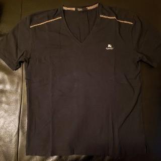 バーバリーブラックレーベル(BURBERRY BLACK LABEL)のバーバリー ブラック レーベル◆Tシャツ◆ブラック  サイズ3(Tシャツ/カットソー(半袖/袖なし))