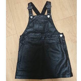 プティマイン(petit main)のプティマイン・レザー調ジャンパースカート(スカート)