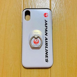 ジャル(ニホンコウクウ)(JAL(日本航空))のJAL iPhone X/XS ICカード収納付スマホケース/リング付(iPhoneケース)