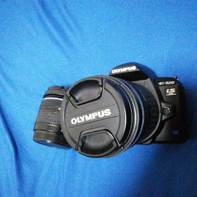 OLYMPUS(オリンパス)のOLYMPUS e520 Wレンズキット ジャンク スマホ/家電/カメラのカメラ(デジタル一眼)の商品写真