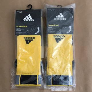 アディダス(adidas)のアディダス adidas バスケットソックス 2足 黄色(バスケットボール)