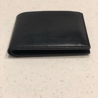 ツチヤカバンセイゾウジョ(土屋鞄製造所)の万双 双鞣和地 二つ折り財布 ブラック(折り財布)