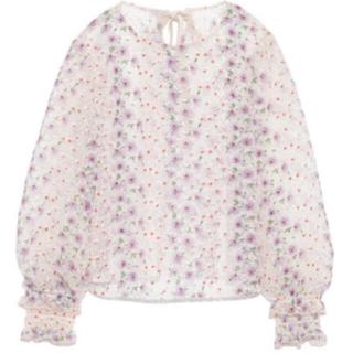 リリーブラウン(Lily Brown)のリリーブラウン ブラウス 花刺繍 バックリボン(シャツ/ブラウス(長袖/七分))
