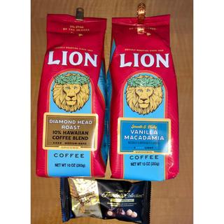 ライオン(LION)のライオンコーヒー バニラマカダミア283gとダイアモンドヘッドロースト283g (コーヒー)